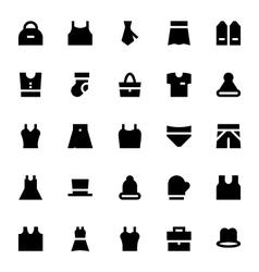 Clothes Apparel and Garments Icons 2 vector image