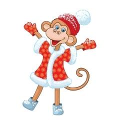 comical monkey new year symbol vector image