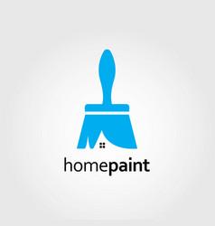 creative brush paint logo design template vector image