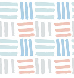 Cute hand drawn bricks seamless pattern vector