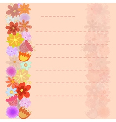 decorative sheet of paper with floral design vector image