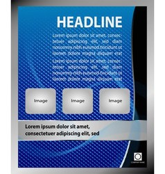 Dental brochure flyer magazine cover post vector