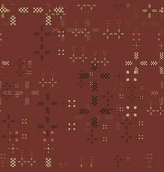 Distressed geometric seamless pattern vector
