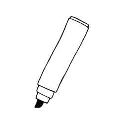 Doodle marker pen hand drawn vector image