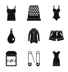 Fashionable accessory icons set simple style vector