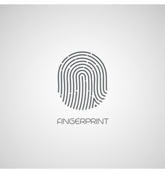 Fingerprint identification icon vector image