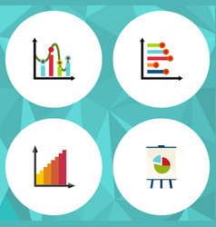 flat icon chart set of chart infographic vector image