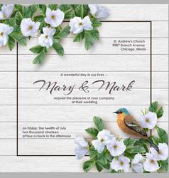 floral wedding invitation vector image