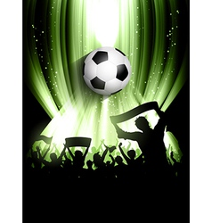 football crowd background vector image