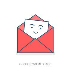 Good news message mailing list icon vector