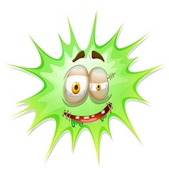 Green burst with face vector