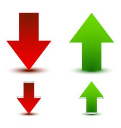 green red arrow up down vector image