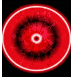 Grunge circles red background vector