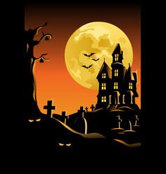 halloween background for halloween poster vector image