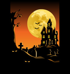 halloween background for poster vector image