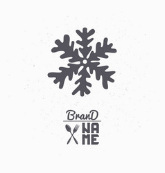 Hand drawn silhouette of snowflake vector