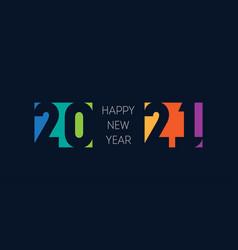 happy new year 2021 horizontal banner bright vector image