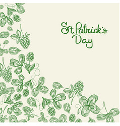 happy st patricks day natural poster vector image