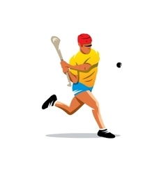 Hurling player Cartoon vector