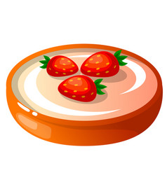 Icon decorative cake with vector
