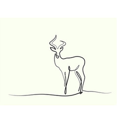 impala walking symbol vector image