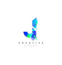 J letter icon design logo with creative artistic vector