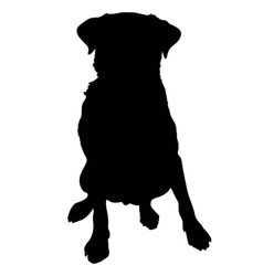 Labrador Retriever Silhouette vector