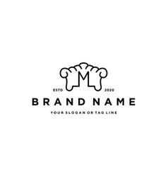Letter m furniture logo icon design vector