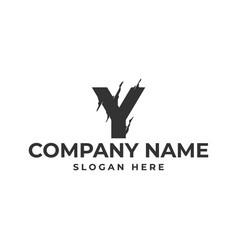 letter y logo template design vector image