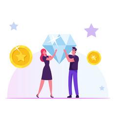 Loyalty program for regular clients concept man vector
