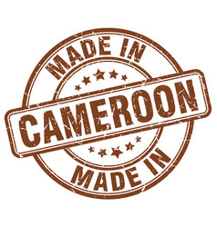 Made in cameroon brown grunge round stamp vector