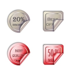 Metal Stickers set on a white background vector image