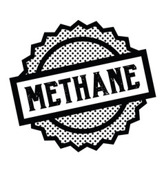Methane stamp on white vector