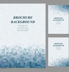 Modern geometric abstract brochure design vector