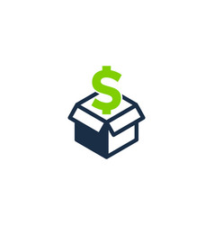 money box logo icon design vector image