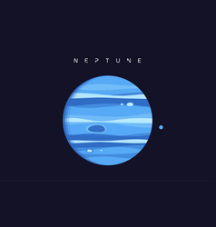 neptune the eighth planet from sun vector image