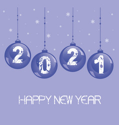 new year decoration 2021 with a glass balls vector image
