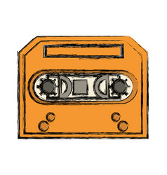 Old music casette vector