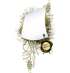 Parchment with the seal on plant background vector