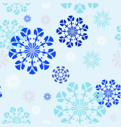 pattern 0142 graceful snowflakes vector image