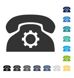 Phone settings icon vector