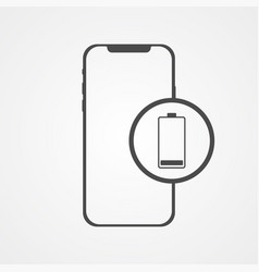 phone with battery icon sign symbol vector image