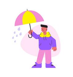 rainy weather flat icon vector image