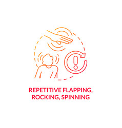 Repetitive flapping rocking spinning concept icon vector