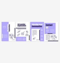 Saving endangered species brochure template vector