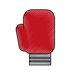 scribble boxin glove cartoon vector image