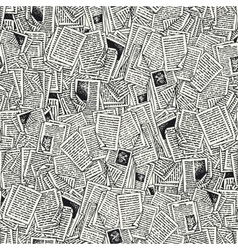 Seamless Pattern with Book Pages vector image