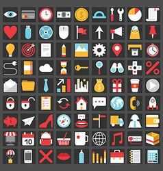 Set of flat icons for mobile app and web vector image vector image