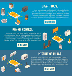 Set of smart house concept isometric vector