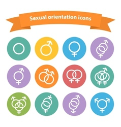 sexual orientation white web iconssymbolsign vector image